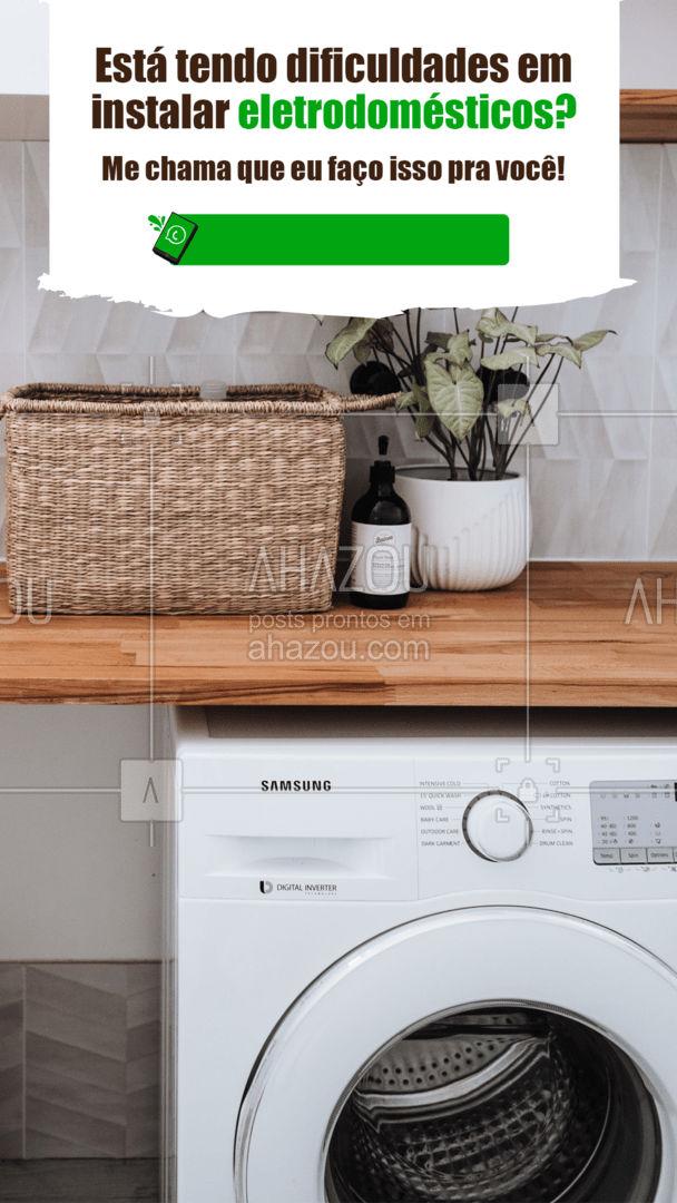 Você merece ter o seu eletrodoméstico novo funcionando, conta comigo! ?? #eletrodomestico #eletricista #eletrica #AhazouServiços  #serviços #serviçosparacasa
