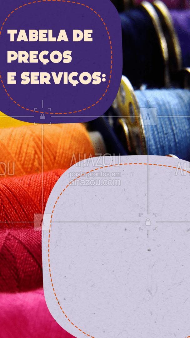 Agora que já sabe os serviços e valores é só agendar um horário! ? #AhazouFashion #costureira #reparos #encomendas #costuraereparos