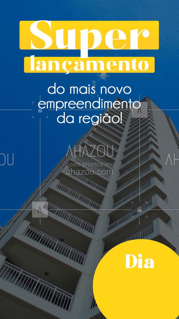 Já marcou o dia na sua agenda? ?  #lançamento #construcaocivil #AhazouImobiliaria #AhazouConstrutora  #mercadoimobiliario