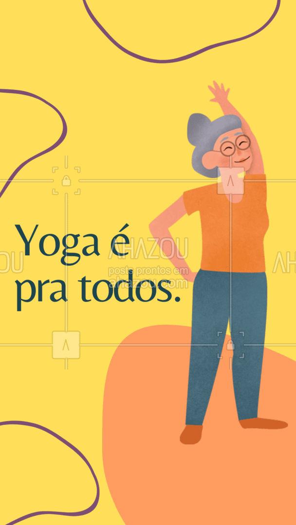 Yoga não tem idade. Criança, adulto ou velho, todos podem fazer Yoga. Ele trabalha o corpo, e relaxa a mente. Um exercício completo. Pronto(a) para relaxar? #AhazouSaude #yoga #namaste #meditation