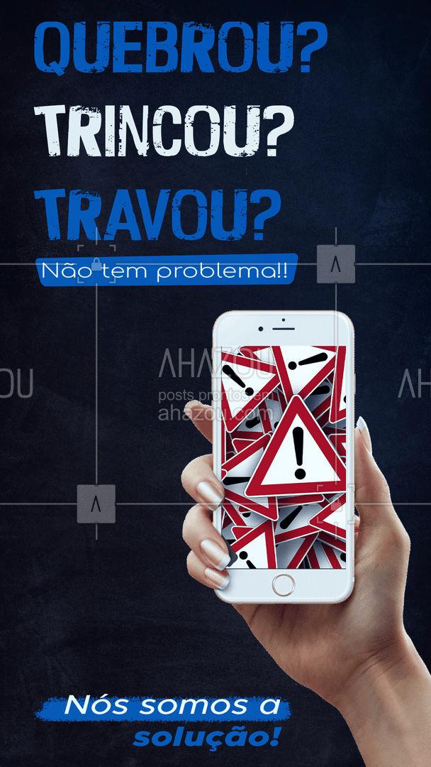 Não se preocupe, pois nós temos a solução! Traga seu aparelho que resolveremos o problema   #AhazouTec #computador #AssistenciaCelular #tecnologia #eletrônicos #assistenciatecnica