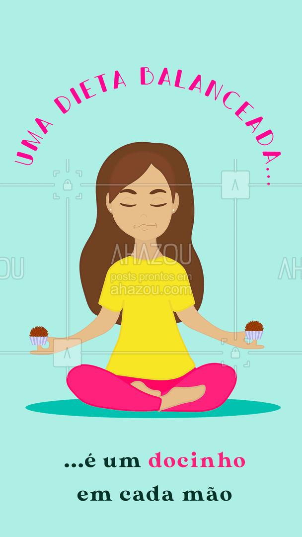 Equilíbrio é tudo na vida! ?  #ahazoutaste  #docinhos #foodlovers #confeitaria #equilibrio #doce