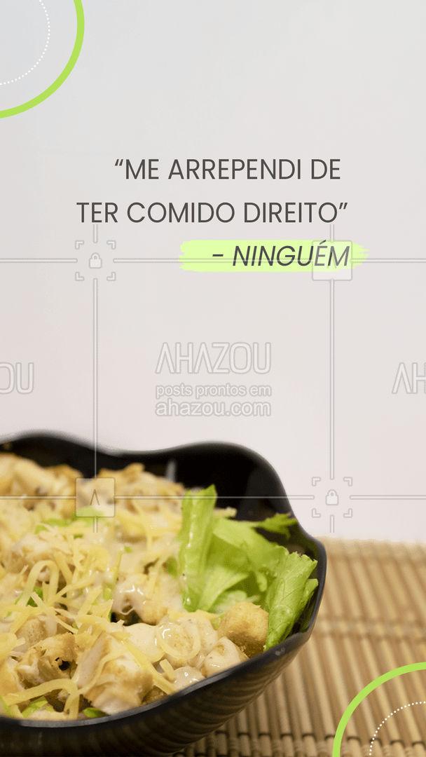 Escolher se alimentar bem hoje é um investimento para amanhã! #qualidadedevida #cuidese #AhazouSaude