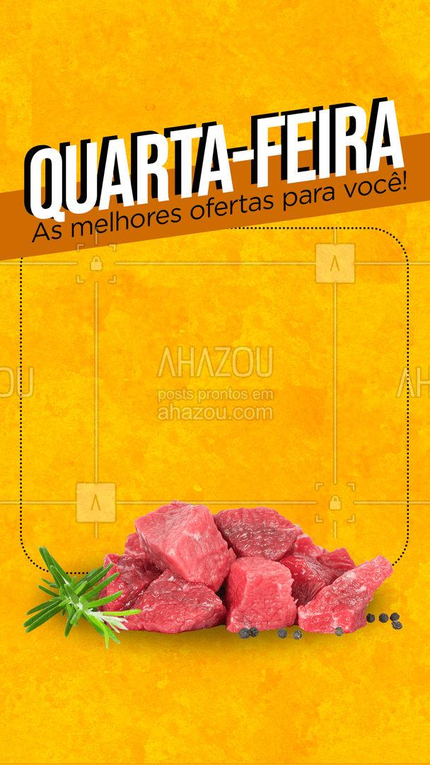 Hoje é quarta e é dia das melhores ofertas do açougue! Temos carnes especiais, cortes selecionados e muito mais mais! Venha conferir ?  #açougue #carnes #CarnesSelecionadas #promoção #ahazoutaste  #meatlover