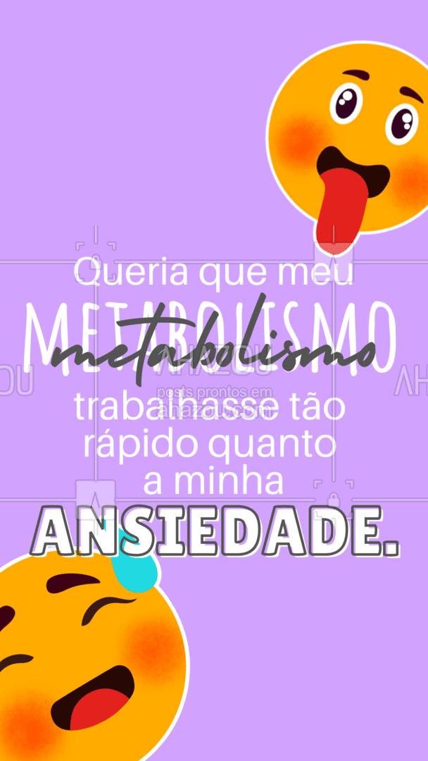 Mas você tá sabendo que se você trabalhar seu metabolismo sua ansiedade melhora? Fica a dica ai hein?!? #AhazouSaude #metabolismo #ansiedade #engracado #motivacional #frase #nutricao #saudemental #viverbem #saude #exercicio