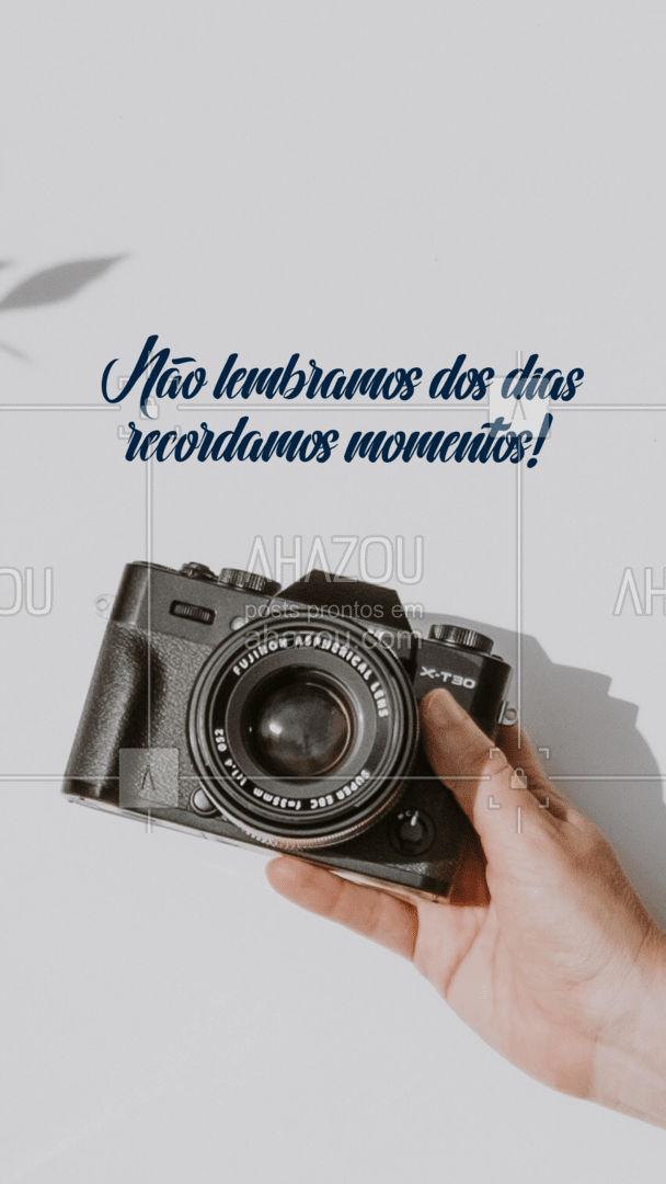 A fotografia te ajuda a recordar seus momentos, marque seu horário e tenha lembranças eternas! ? #ahazoufotografia #photography #photooftheday #fotografiaprofissional #fotografia #photo #foto #frase #frasesmotivacionais