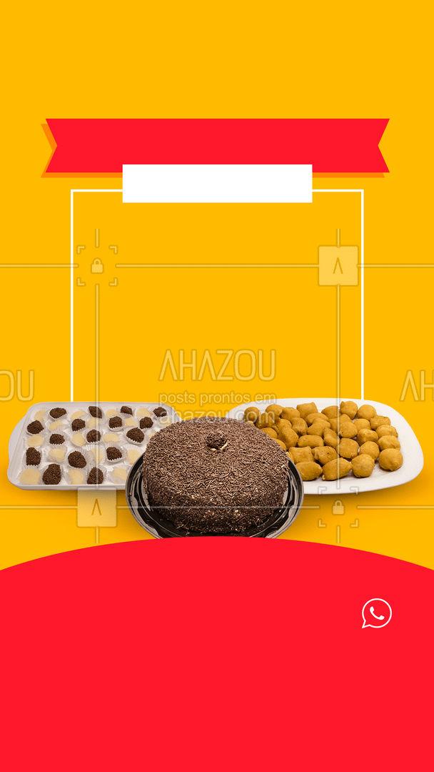 Kit festa com desconto: tem coisa melhor? Faça sua encomenda! #ahazoutaste  #bolocaseiro #kitfesta #salgados #docinhos #foodlovers #confeitaria #promoção #desconto #off #aproveite #encomenda