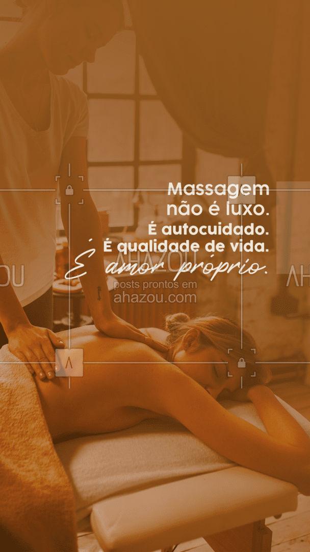 Massagem não é um luxo, é um item indispensável no seu autocuidado, não deixe para depois! ? #autocuidado #massagem #AhazouSaude  #massoterapeuta #massoterapia #quickmassage