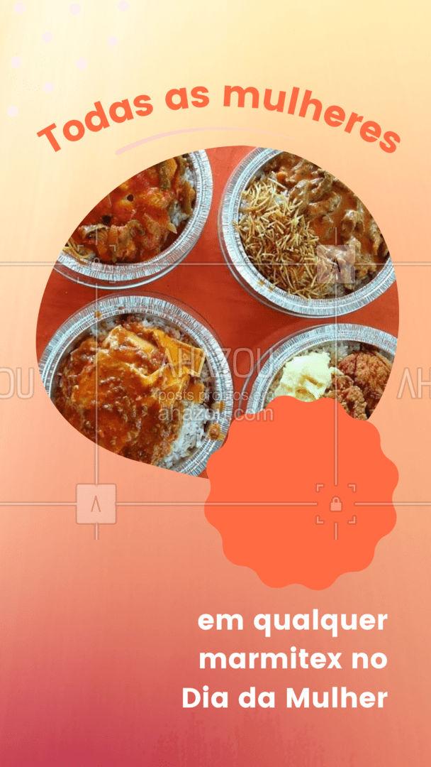 Comemore o Dia da Mulher com o seu marmitex favorito! Faça seu pedido e aproveite nossa promoção. #diadamulher #marmitex #ahazoutaste  #marmitando #comidacaseira #marmitas