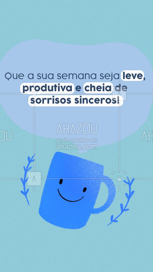 É tudo o que desejamos aos nossos amigos e clientes! Uma ótima semana pra você! #boasemana #segunda #ahazou #motivacionais #ahazou