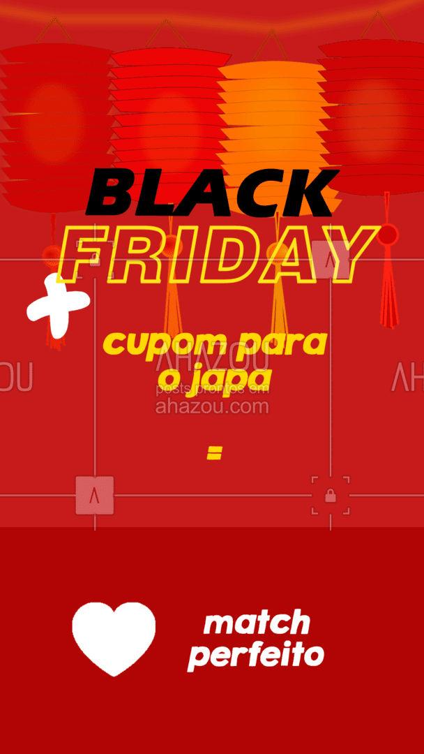 Aproveite a Black Friday e venha jantar ? com a gente com um cupom especial ??: (descrever a promoção, por ex: 10% de desconto ou bebida de graça). #japa #ahazoutaste #sushitime #japanesefood #comidajaponesa #sushilovers #BlackFriday #ahazoutaste