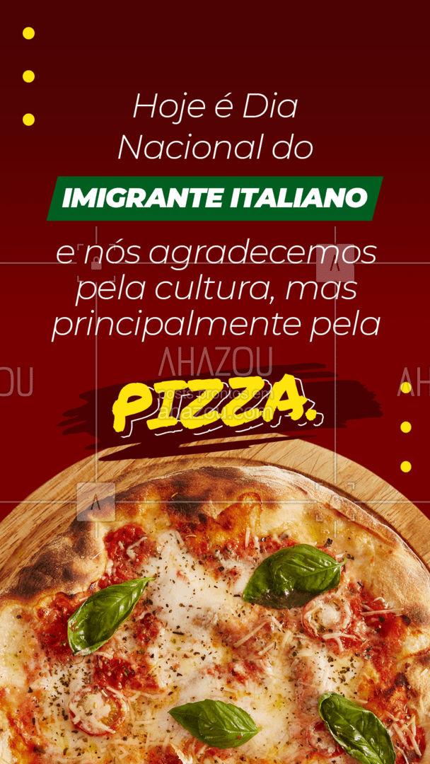 Um amor chamado pizza.?❤️️  #DiadoImigranteItaliano #AhazouTaste #Pizza #Pizzaria #Gastronomia