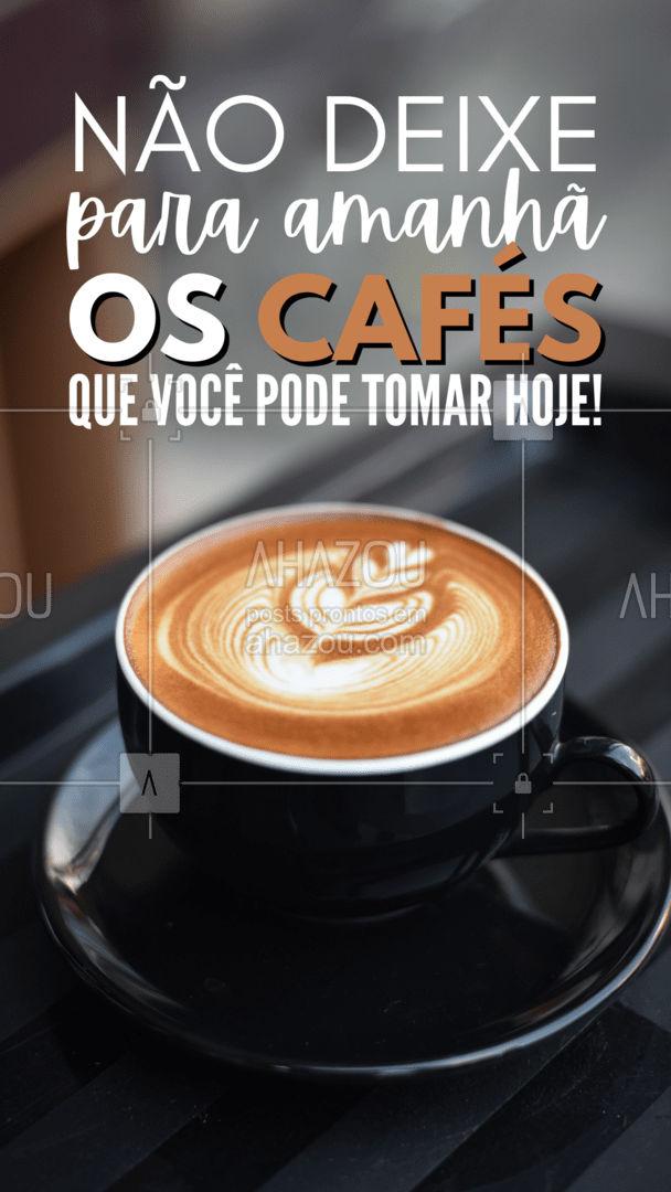 Bora tomar café meu povo! ??☕ #diadagula #gula #ahazoutaste #café #coffee #barista #coffeelife #ahazoutaste