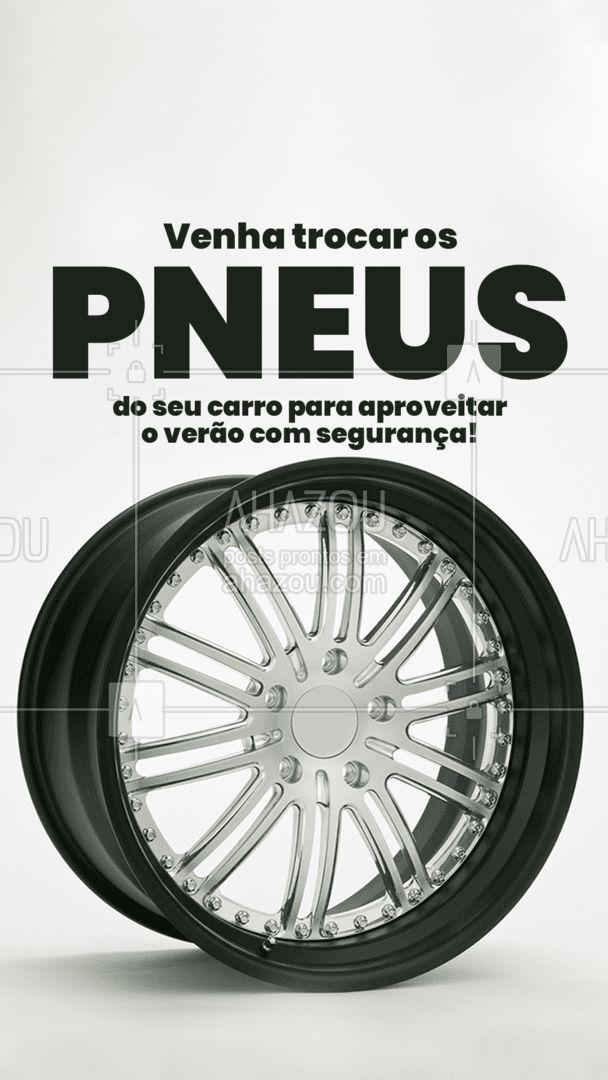 Viajar no verão é incrível, mas as chuvas dessa época são um perigo pois deixam as pistas escorregadias, e os pneus aumentam os riscos de acidentes. Não marque bobeira traga o seu carro para fazer a troca de pneus ?☀?. #esteticaautomotiva #eletricaautomotiva #mecanicaautomotiva #carros #AhazouAuto #automotivo #lavajato #automotiva #mecanica