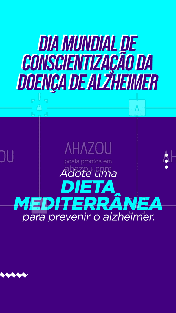 Fazer uma dieta mediterrânea rica em vegetais, peixes e frutas ajuda a nutrir corretamente o cérebro, impedindo problemas graves, como o Alzheimer ou demência. Consumir uma taça de vinho por dia também ajuda na memória e no estímulo da mente, pois os antioxidantes ajudam a proteger os neurônios de produtos tóxicos, evitando lesões no cérebro. 💜 #AhazouSaude #cuidados #saude #prevencao #diamundialdeconscientizaçãodoalzheimer #alzheimer #dieta #dica #dietamediterranea #qualidadedevida #viverbem #bemestar #cuidese