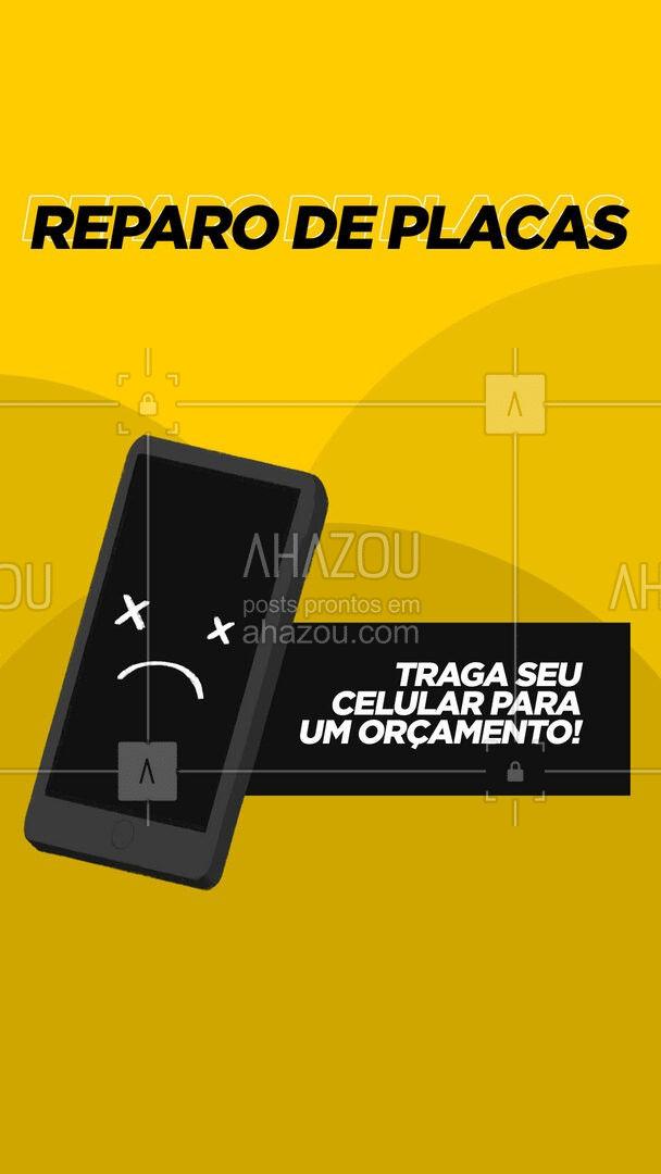 Profissionais especializados em reparo de placa de celulares. Traça seu aparelho e faça um orçamento! #AhazouTec   #AssistenciaCelular #tecnologia #assistentetecnico #celulares #AssistenciaTecnica #assistencia #AssistenciaTecnica #celular