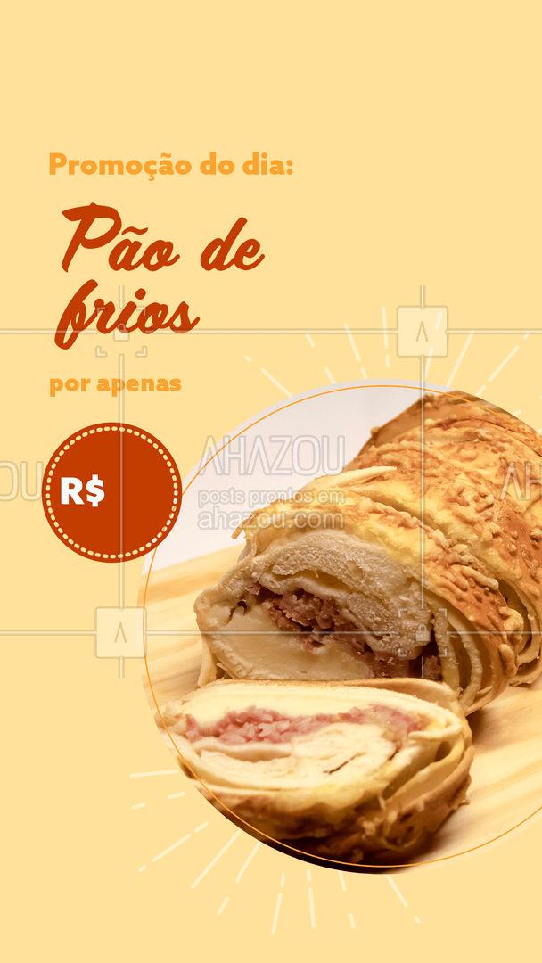 Delicioso pão de frios com aquele gostinho caseiro especial por um preço especial! Aproveite! ?? #ahazoutaste #pãoquentinho  #padariaartesanal  #cafedamanha  #panificadora  #bakery  #confeitaria