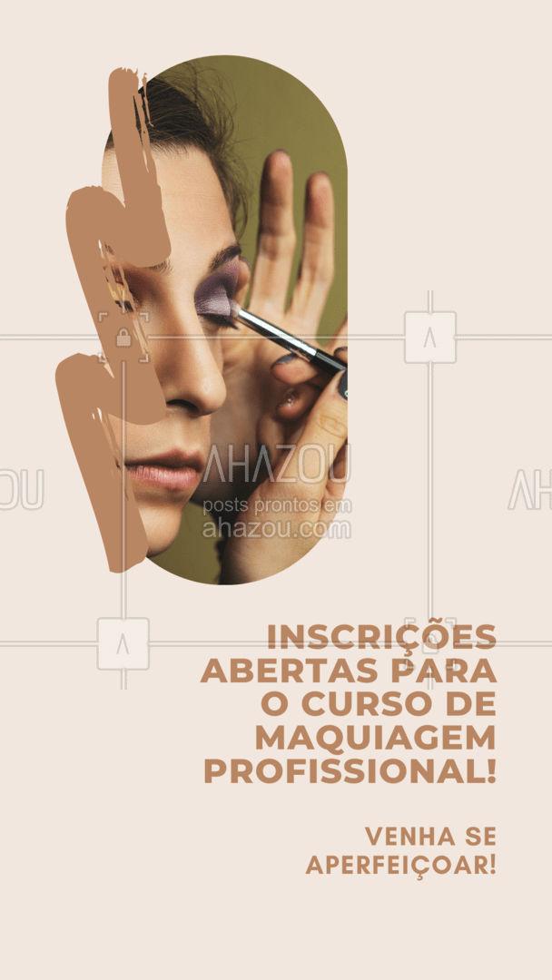 É apaixonada por maquiagem? Venha aprender as técnicas mais aplicadas atualmente no mercado nesse curso profissional! #AhazouBeauty #cursomake  #muabrazil #maquiagem #maquiadora