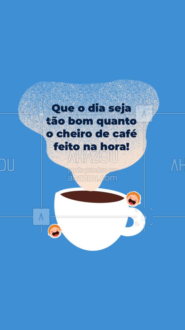 Bom dia! Espero que seu dia seja tão delicioso e reconfortante como cheirinho de café. #ahazoutaste  #cafeteria #coffee #coffeelife #barista #café