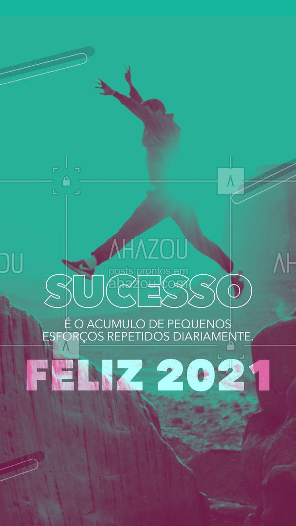 Não desista dos seus objetivos em 2021! O seu sucesso está logo ai, é só ter foco!?  #AhazouEdu  #educação #aulaparticular #vestibular #ENEM #concursopúblico #cursinho #motivacional #anonovo #2021 #frase
