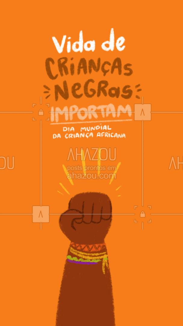 Todas as vidas importam! ? #ahazou #crianca #kids #criancaafricana #Diamundialdacriançaafricana #juventude #vidasnegrasimportam #negros #pretos  #motivacionais #motivacional #frase