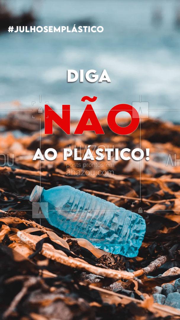 Além de poluir o planeta por séculos, os plásticos ainda causam mal aos animais quando descartados de maneira incorreta. Em julho, convidamos você a repensar no seu consumo de plástico e em outras maneiras de consumir produtos sem precisar usá-lo. Assim você salva os animais, a humanidade e o planeta! ???   #julhosemplastico #sustentabilidade #ahazou #eco #meioambiente #plasticos