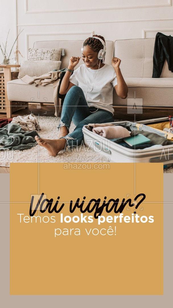Viaje se sentindo linda e à vontade ao mesmo tempo! Confira nossos looks disponíveis! #AhazouFashion #lookdodia  #fashionista  #fashion  #moda  #OOTD  #modafeminina #convite #cliente #looksperfeitos #confortável #estilo