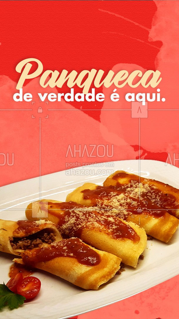 Quer provar uma panqueca de verdade? Então já sabe onde pedir! Porque panqueca de verdade, macia e gostosa, é só aqui!  #ahazoutaste #panqueca #massas #comidaitaliana