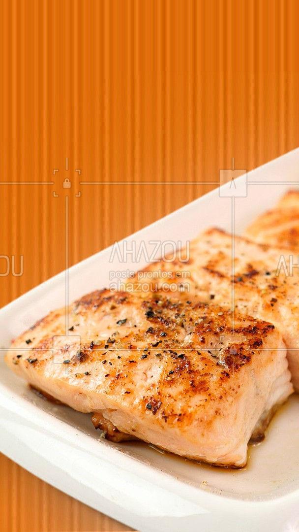Hoje o dia é dela, e o seu pedido é um salmão fresquinho. #ahazoutaste #diadagula #gula #salmão #peixe #ahazoutaste  #editaveisahz