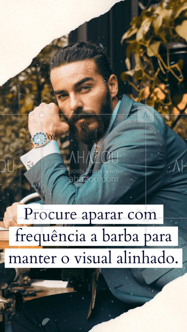 Ao manter uma rotina de cuidados com a barba, é importante aparar a barba. A prática permite que você mantenha o formato desejado e remover possíveis pontas duplas na barba. ?? #AhazouBeauty #barbeirosbrasil #barbearia #barba #cuidadoscomabarba #barberShop