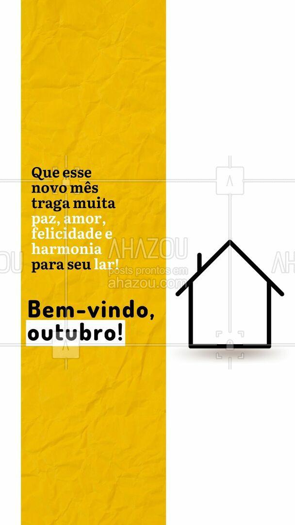 Desejamos um mês maravilhoso para todos vocês, e para ficar ainda melhor é só contratar nossos serviços! #residencia #conserto #servico #servicosparacasa #AhazouServiços #servicos #manutença #limpeza #reparos #outubro #bemvindooutubro #bemvindo