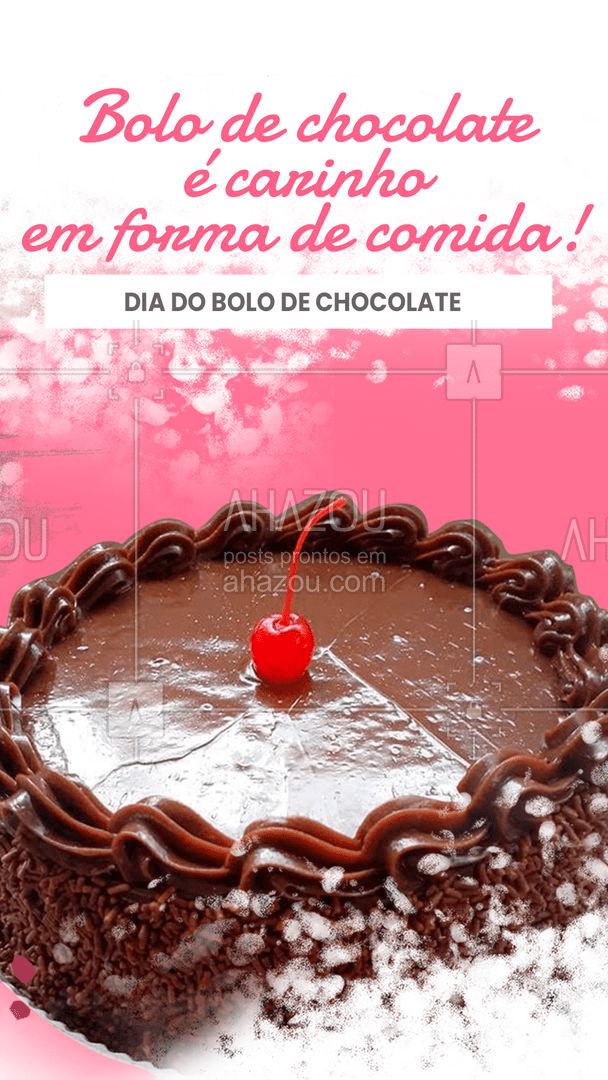 Não tem nada melhor que bolo de chocolate. Confeitado com amor fica melhor ainda! Faça sua encomenda no dia do bolo de chocolate! #ahazoutaste  #doces #bolo
