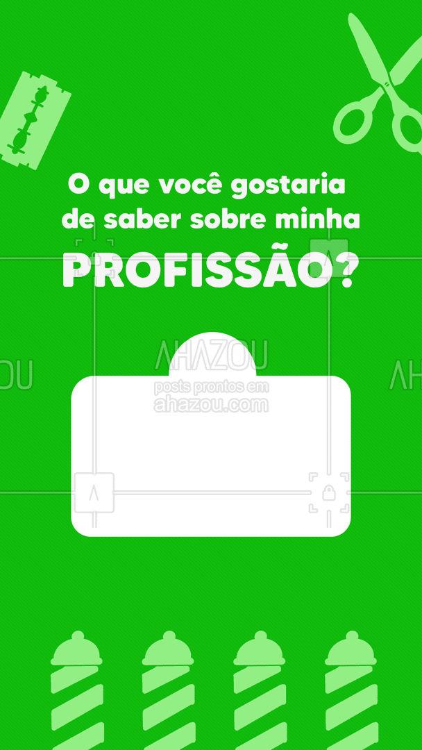 Tem alguma dúvida sobre minha profissão? Então mande suas perguntas! #barberLife #barbeirosbrasil #barbeiro #barberShop #AhazouBeauty #barbearia #barba #cuidadoscomabarba #barber #caixinhadeperguntas