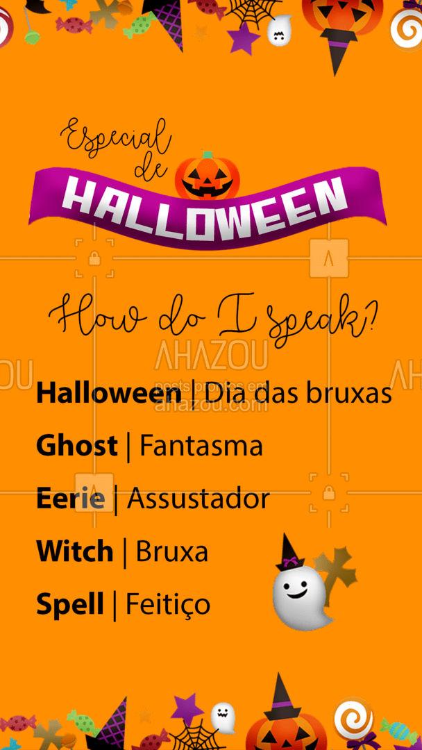 Você já conhecia essas palavras in english? ?? #Halloween #English #AhazouEdu #aulasdeingles #AhazouEdu