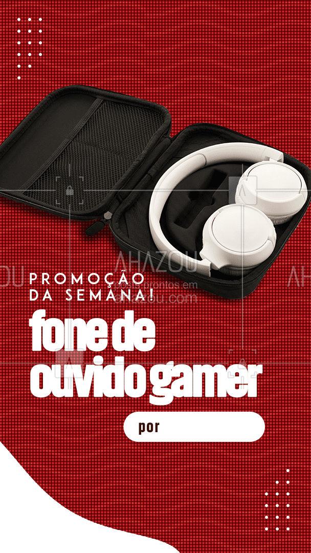 Seu novo fone de ouvido gamer está aqui! Aproveite e garanta o seu! #assistentetecnico #eletrônicos #AssistenciaTecnica #AhazouTec #assistencia #AssistenciaTecnica#acessorios #desconto #promoção