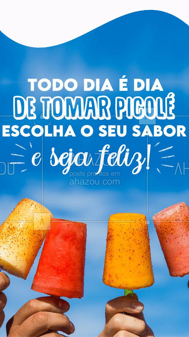 Faça frio ou calor, um picolé sempre é uma boa para deixar o nosso dia mais feliz! 😋 #picole #sorvete #ahazoutaste  #sorveteria  #icecream  #gelados