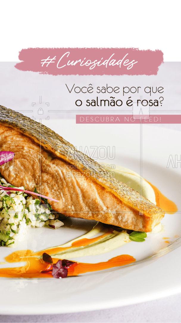 Os salmões possuem essa coloração por se alimentarem de outros animais, cmo crustáceos, que possuem pigmentos carotenóides! #salmao #peixes #ahazoutaste #foodlovers  #frutosdomar  #instafood