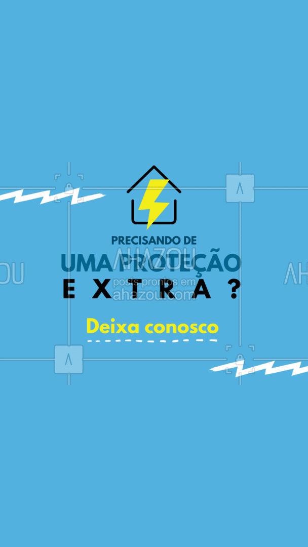 Proteção nunca é demais, não é mesmo? Faça um orçamento conosco sobre alarmes residenciais!!  #AhazouServiços  #eletricista #eletricidade #alarmes #alarmeresidencial #serviços #casa