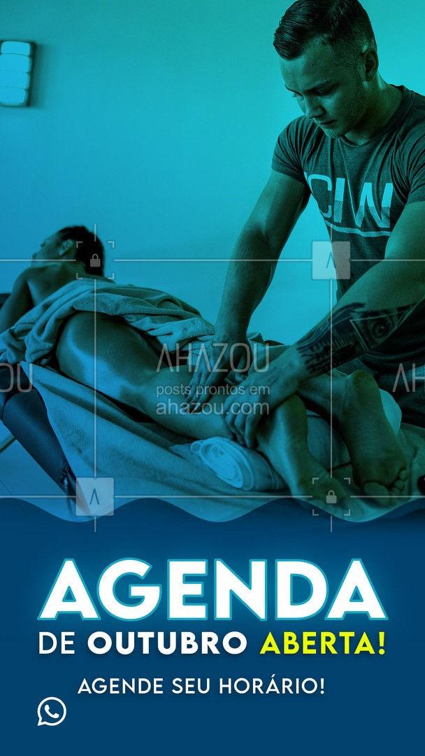 Novo mês chegando, está na hora de cuidar da sua saúde! Nossa agenda está oficialmente aberta! Entre em contato e agende seu horário! ?? #AhazouSaude #AgendaAberta #agendaOutubro #outubro #OutubroAgenda #AgendaOutubro #NovoMes #AhazouSaude