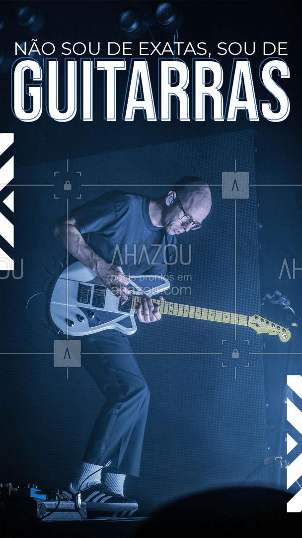 Tem mais alguém aí que é de guitarras? ?? #AhazouEdu  #instrumentos #guitarra #engraçado  #aprendamúsica #música