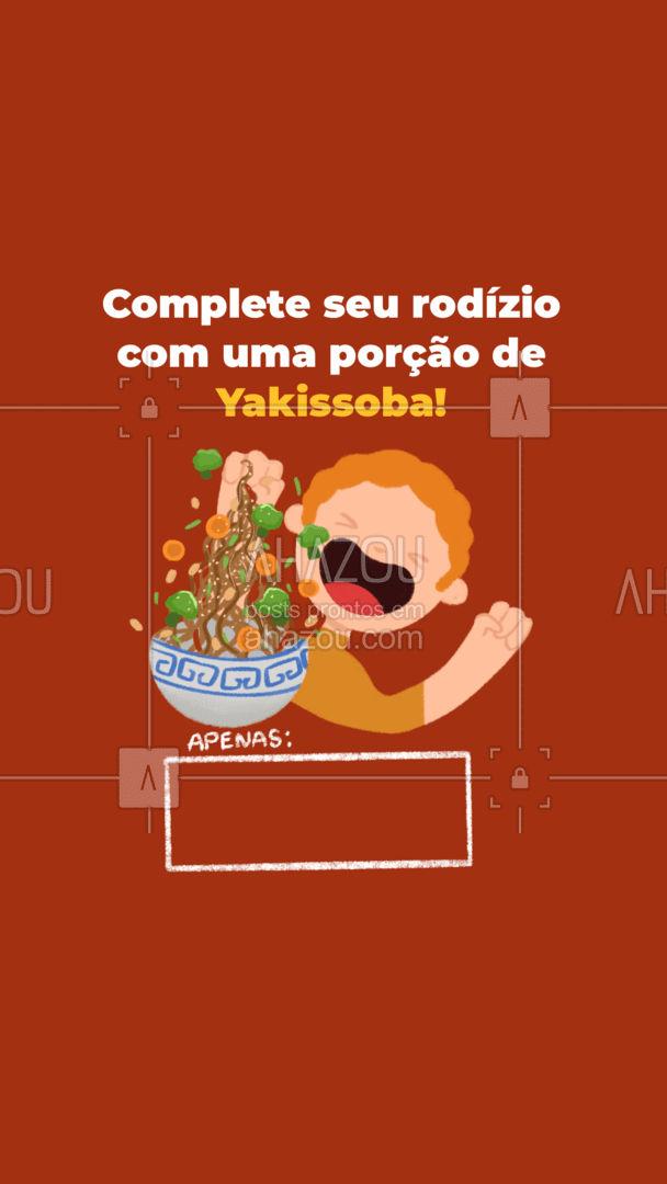Experimente o melhor da tradicional cozinha japonesa com nossa receita de Yakissoba! #ahazoutaste  #japa #sushidelivery #sushitime #japanesefood #sushilovers #comidajaponesa