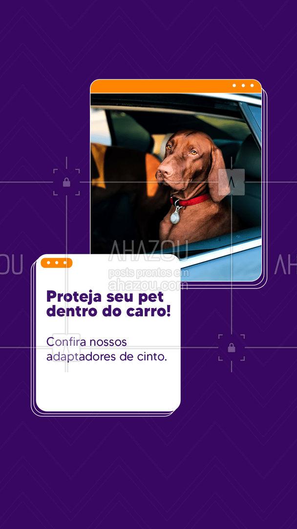Se você se preocupa com a proteção do seu pet, você precisa desse adaptador de cinto. Com ele, você poderá carregar seu pet dentro do carro e dirigir com toda segurança. Confira nossos modelos disponíveis para todos os tamanhos de pet. Esperamos você ? #petshop #segurança #cachorro #AdaptadorDeCinto #AhazouPet  #instapet