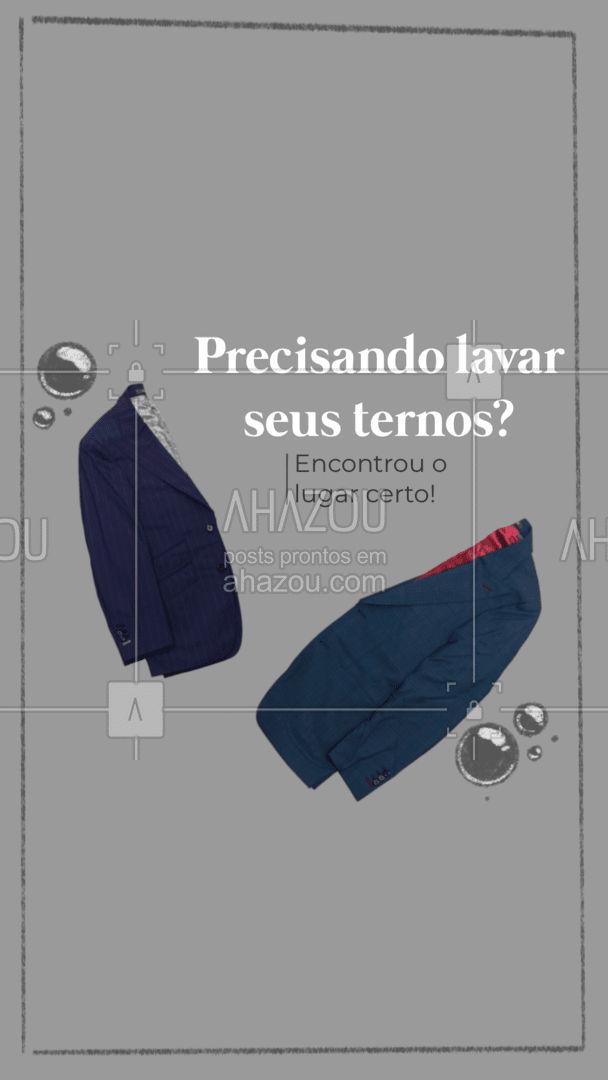 Aqui seu terno é lavado e higienizado com excelência! Conheça nossos serviços. #AhazouServiços #ternos  #roupalimpa  #roupalavada  #lavanderia