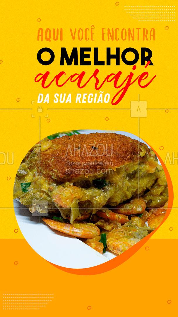 O melhor da culinária baiana está a um pedido de distância! ?? #acarajé #comidacaseira #ahazoutaste #selfservice #comidadeverdade