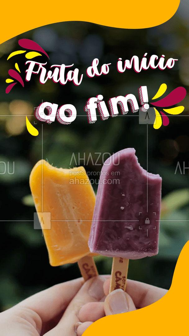 Aqui você consome fruta de verdade! ????? #ahazoutaste #polpa #frutas #natural #saude #nutrientes #ahazoutaste