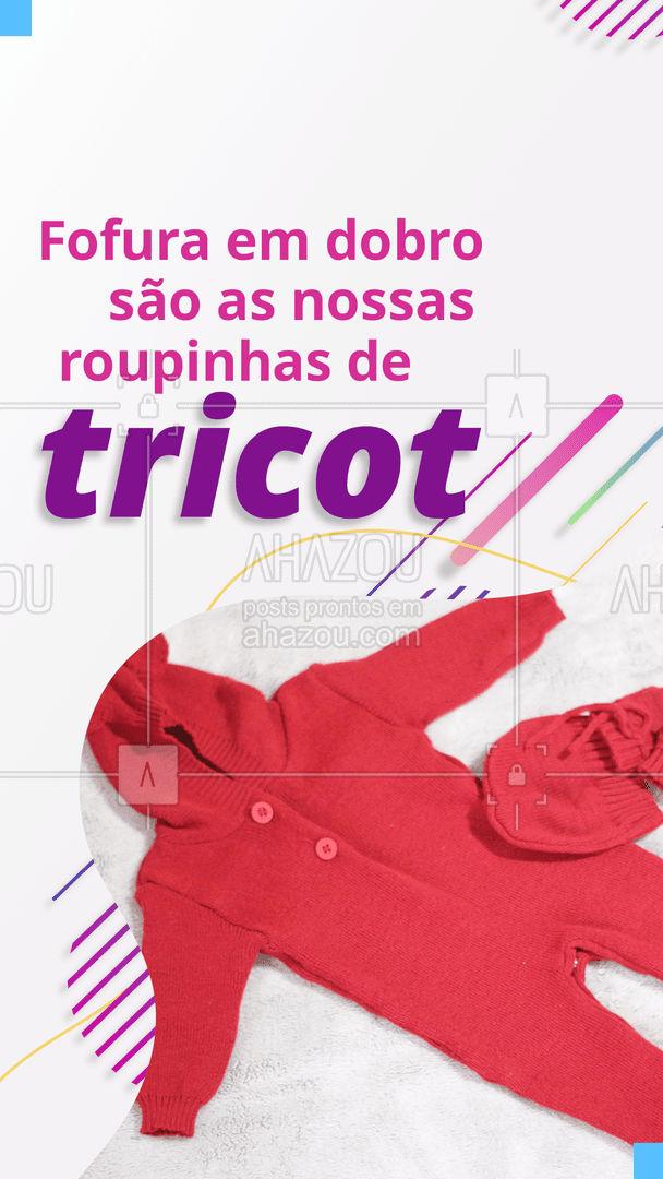Para tudo! alerta de fofura em dobro passando por aqui, quem também é apaixonado por roupinhas de tricot? #AhazouFashion #tricot #roupinhas #nenem #infantil #bebes #fofura #lojainfantil