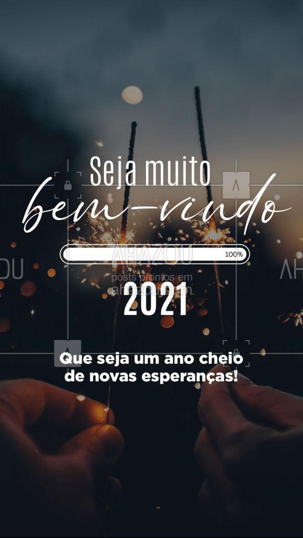 Acredite que neste ano será um ano cheio de novas esperanças e que tudo irá ter novos caminhos positivos! Seja muito bem-vindo 2021. ✨?✨ #AnoNovo #2021 #ahazou #NovoAno