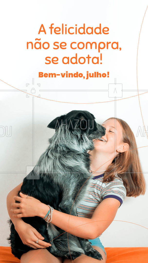 Que esse mês você adote muito mais amigos!❤️?? #AhazouPet #cats #dogs #petlovers #ilovepets #dogsofinstagram #petsofinstagram #bemvindojulho #julho