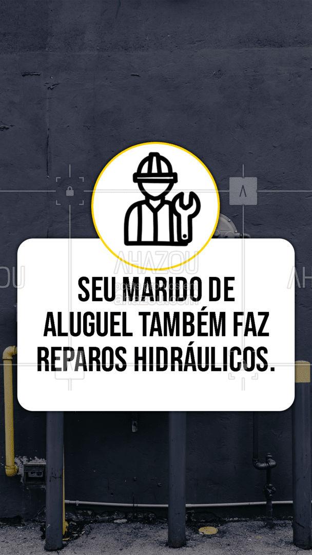 Se você precisar, já sabe quem chamar!😉💪 #reparoshidráulicos #maridodealuguel #serviços  #AhazouServiços