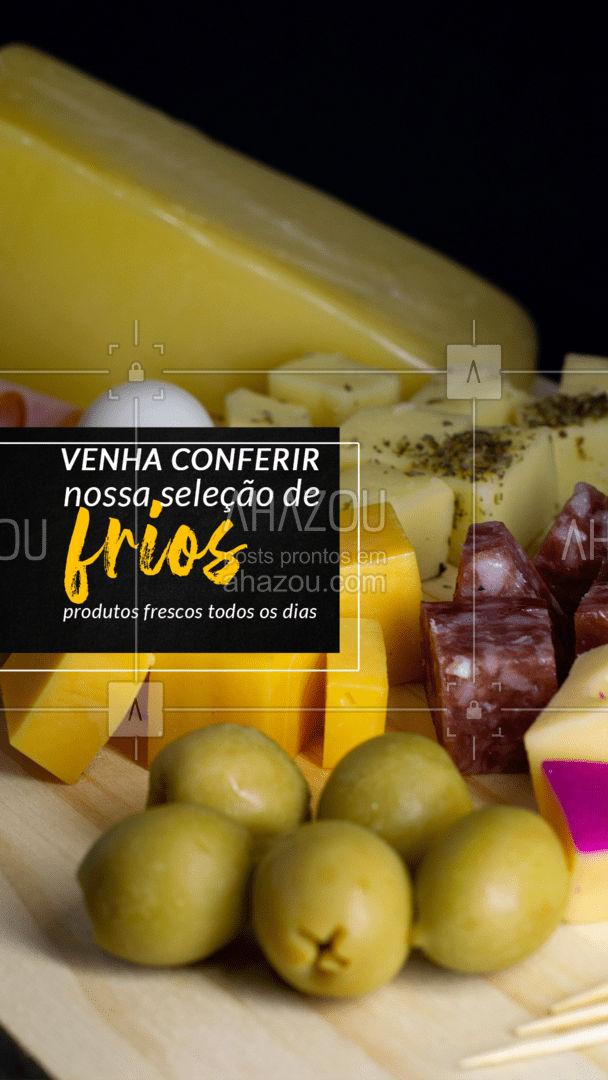 Confira nossa variedade de frios! ? A seleção da melhor qualidade diretamente para sua mesa! ? #frios #petiscos #ahazoutaste #açougue